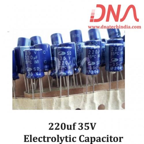 220uf 35V Electrolytic Capacitor