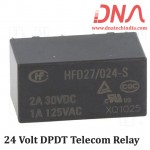HFD27/0024-S 24 Volt DPDT Telecom Relay