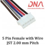 5 Pin 2.0mm JST Female Connector