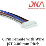 6 Pin 2.0mm JST Female Connector