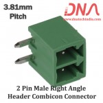 2 Pin Male Right Angle Header 3.81 mm pitch (Combicon Connector)