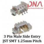 3 Pin 1.25 mm JST Side Entry SMT Connector