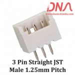 3 Pin 1.25 mm JST Straight Male Connector