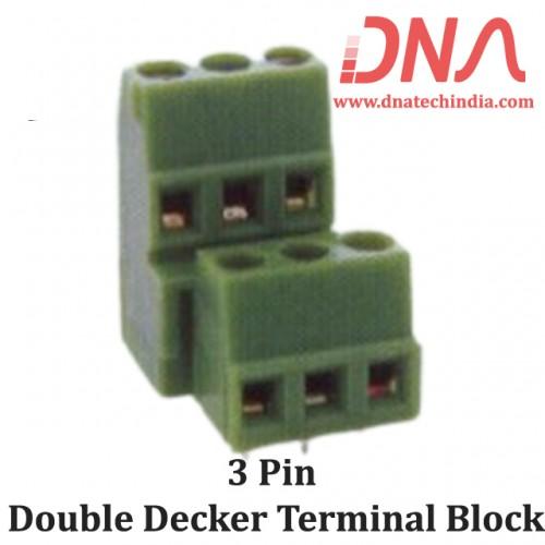 3 Pin Double Decker Terminal Block
