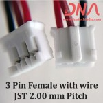 3 Pin 2.0mm JST Female Connector