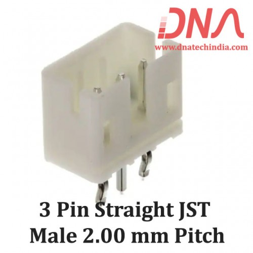 3 Pin 2.0mm JST PH Straight Male Connector