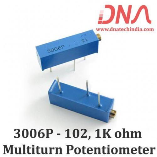 3006P-102 1Kohm Multiturn Varaible Resistor