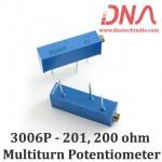 3006P-201 200ohm Multiturn Varaible Resistor