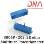 3006P-202 2K ohm Multiturn Varaible Resistor