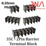8.25mm 2 Pin Straight Barrier Terminal Block (35C Series)