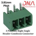 3 Pin Male Right Angle Header 3.81 mm pitch (Combicon Connector)