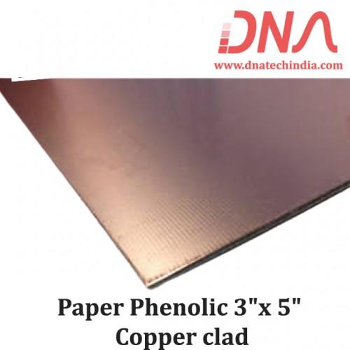 "Paper Phenolic 3""x 5"" Copper Clad"