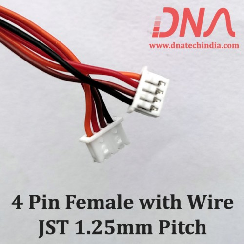 4 Pin 1.25mm JST Female Connector