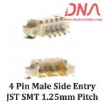 4 Pin 1.25 mm JST Side Entry SMT Connector