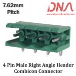 4 Pin Male Right Angle Header 7.62 mm pitch (Combicon Connector)