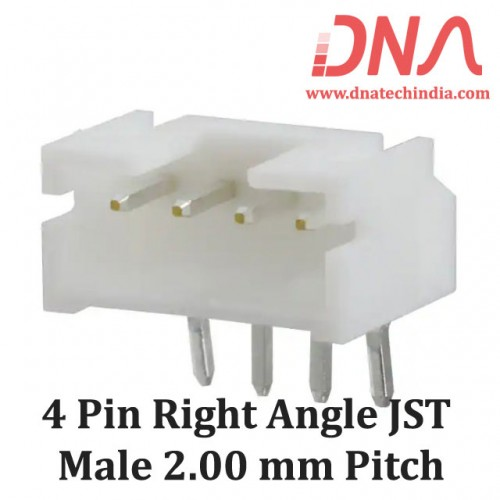 4 Pin 2.0mm JST PH Right Angle Male Connector