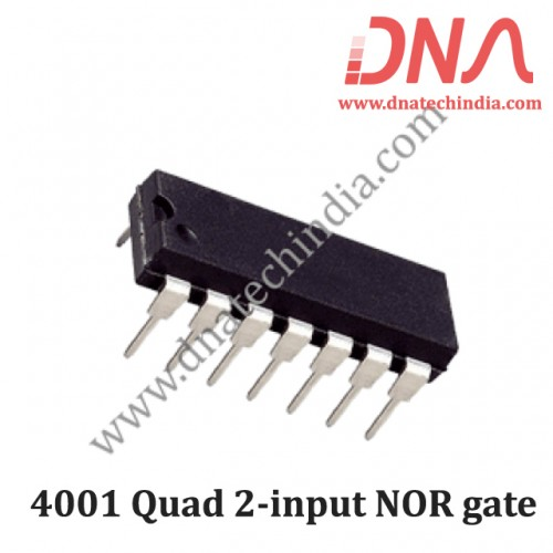 4001 Quad 2-input NOR gate