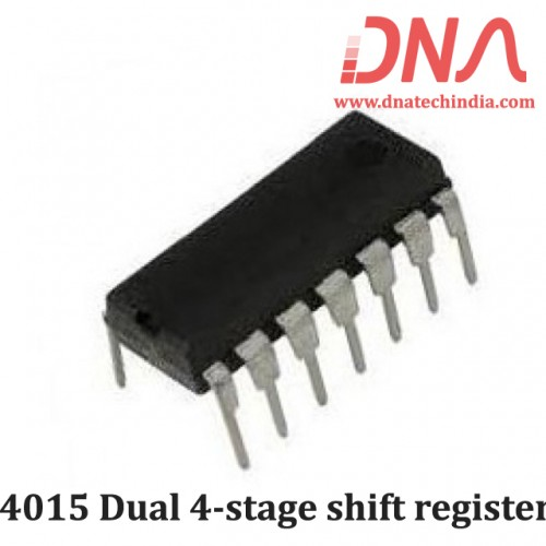 4015 Dual 4-stage shift register