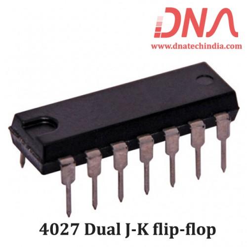 4027 Dual J-K flip-flop