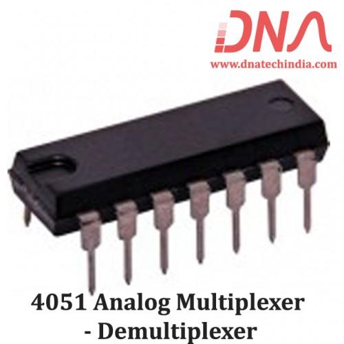 4051 Analog multiplexer - Demultiplexer