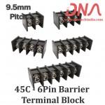 9.5mm 6 Pin Straight Barrier Terminal Block (45C Series)