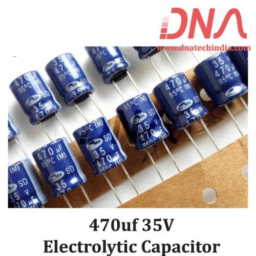 470uf 35V Electrolytic Capacitor