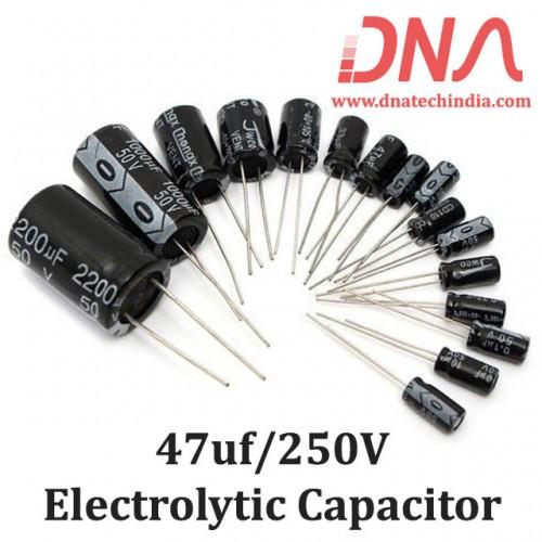 47uf 250V Electrolytic Capacitor