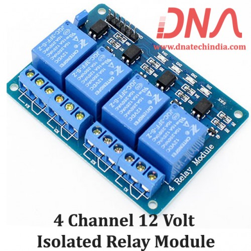 4 Channel 12 Volt Isolated Relay Module