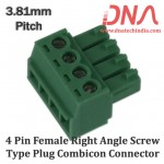 4 Pin Female Right Angle Screwable Plug 3.81mm (Combicon Connector)