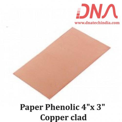 "Paper Phenolic 4""x 3"" Copper Clad"