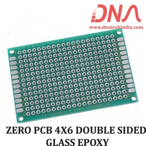 ZERO PCB 4X6 cm DOUBLE SIDED GLASS EPOXY