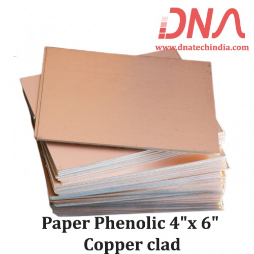 "Paper Phenolic 4""x 6"" Copper Clad"