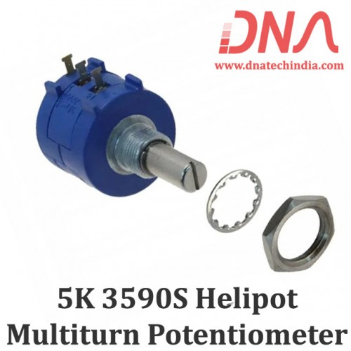 5K Ohm 3590S Helipot Precision Multiturn Potentiometer