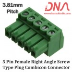 5 Pin Female Right Angle Screwable Plug 3.81mm (Combicon Connector)