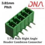 5 Pin Male Right Angle Header 3.81 mm pitch (Combicon Connector)