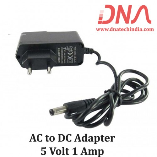 5 Volt 1 Ampere AC to DC Adapter