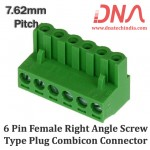 6 Pin Female Right Angle Screwable Plug 7.62mm (Combicon Connector)