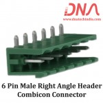 6 Pin Male Right Angle Header 5.08 mm pitch (Combicon Connector)