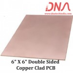 """6""""x 6"""" Double Sided Copper Clad PCB"""