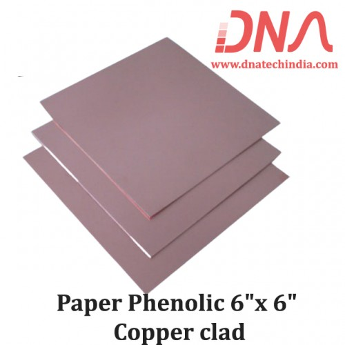 "Paper Phenolic 6""x 6"" Copper Clad"