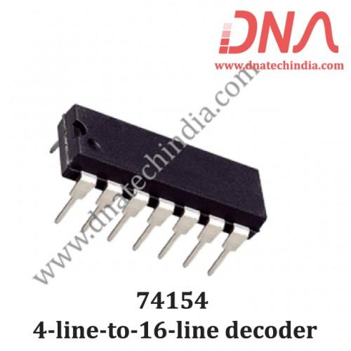 74154 4-line-to-16-line decoder