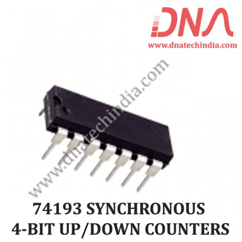 74193 SYNCHRONOUS 4-BIT UP/DOWN COUNTERS