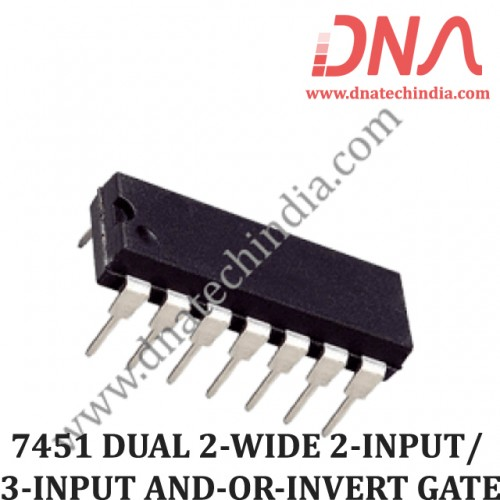 7451 DUAL 2-WIDE 2-INPUT/ 3-INPUT AND-OR-INVERT GATE