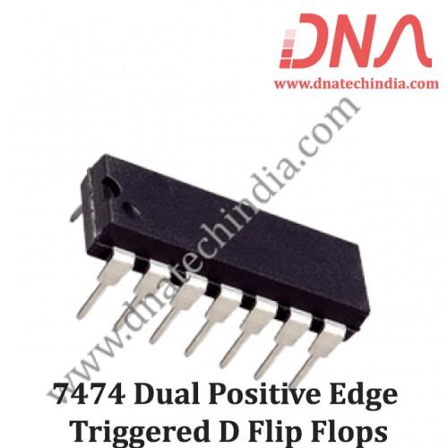 7474 Dual Positive Edge Triggered D Flip Flops