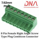 8 Pin Female Right Angle Screwable Plug 7.62mm (Combicon Connector)