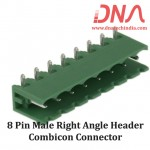 8 Pin Male Right Angle Header 5.08 mm pitch (Combicon Connector)