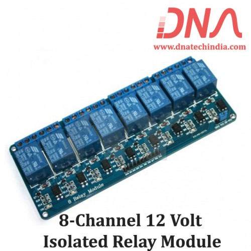 8 Channel 12 Volt Isolated Relay Module