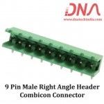 9 Pin Male Right Angle Header 5.08 mm pitch (Combicon Connector)