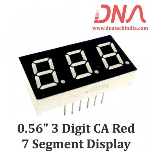 """0.56"""" Three Digit RED CA 7 Segment Display"""