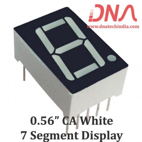 "0.56"" White CA 7 Segment Display"